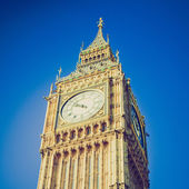 Vintage look Big Ben, London — Stock Photo