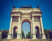 Arco della Pace, Milan — Stock Photo