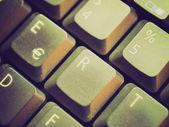 Teclado de computador look retro — Fotografia Stock
