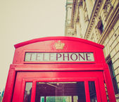 Budka telefoniczna londynu vintage wygląd — Zdjęcie stockowe