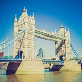 Vintage look Tower Bridge London — Stock Photo