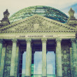 Retro look Berlin Reichstag — Stock Photo