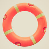Retro look Lifebuoy — Stock Photo