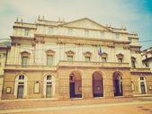 复古外观剧院 alla scala 米兰 — 图库照片