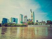 Retro mira frankfurt, alemania — Foto de Stock