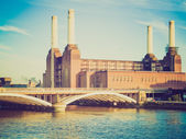 Vintage look Battersea Powerstation London — Stok fotoğraf