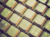 Teclado de computadora look retro — Foto de Stock