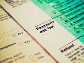 Retro look Tax forms — Stock Photo