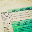 Retro look Tax forms — ストック写真
