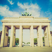 Retro look Brandenburger Tor, Berlin — Stock Photo