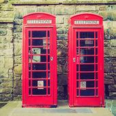 Retro vzhled londýnské telefonní budka — Stock fotografie