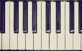 Retro-look-musik-keyboard — Stockfoto