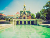 Look rétro chapelle russe de darmstadt — Photo