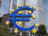 Frankfurt am Main, Germany - July 5, 2013: The world famous buil — Stock Photo
