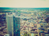 Retro look Frankfurt am Main — Stock Photo