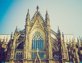 Retro look Koeln Dom — Stock Photo