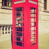 Vintage look londen telefooncel — Stockfoto