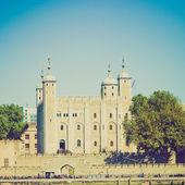 винтажный вид лондонский тауэр — Стоковое фото