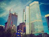 Retro look European Central Bank in Frankfurt — Stock Photo