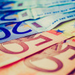 Retro look Euros picture — Stock Photo
