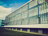 Retro look Bauhaus Dessau — Стоковое фото