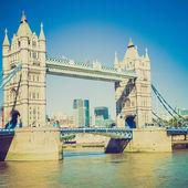 Retro vzhled tower bridge londýn — Stock fotografie