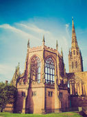 Retro look Coventry Cathedral ruins — Stock Photo
