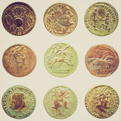 Retro look Roman coin — Stockfoto