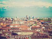 Retro look Turin, Italy — Stock Photo