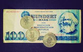 Retro look DDR banknote — Foto Stock