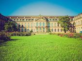 Retro look Neues Schloss (New Castle), Stuttgart — Stockfoto