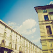 Retro look Via Po, Turin — Stock Photo