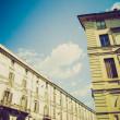 Retro look Via Po, Turin — Stock Photo