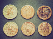 Retro look Roman coins — 图库照片