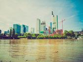 Retro look Frankfurt, Germany — Stock Photo