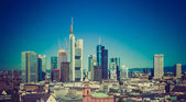 Retro look Frankfurt am Main, Germany — Stock Photo