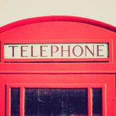 винтажный вид поле телефон в лондон — Стоковое фото