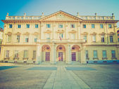 Retro look Conservatorio Verdi, Turin, Italy — Stock Photo