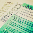 Retro look Tax forms — Stok fotoğraf