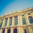 Retro look Palazzo Madama, Turin — Stock Photo