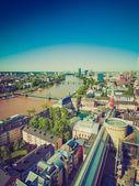 Luchtfoto van het retro-look van frankfurt — Stockfoto