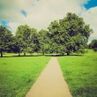 Vintage look Regents Park, London — Stock Photo
