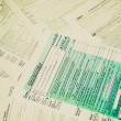 Retro look Tax forms — Foto de Stock