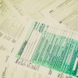 Retro look Tax forms — Stock Photo