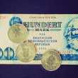 Retro look DDR banknote — Stock Photo