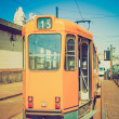 Retro look A tram — Stockfoto