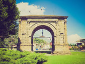 Retro look Arch of August Aosta — Stock Photo