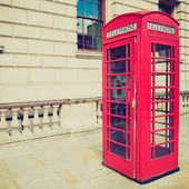 Vintage look London telephone box — Stock fotografie