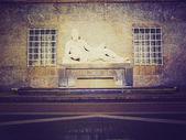 Retro look Po Statue, Turin — Stock Photo