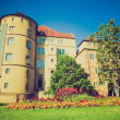 Retro look Altes Schloss Old Castle Stuttgart — Stock Photo #32108191